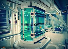 Scifi Cryo Lab Cryoterapy Laboratory Chamber Interior Design - Sci fi Conception, Hard surface 3D modeling, Texturing, Lighting, Rendering and Post-production. Sci-fi 3D scene made for Scifica Studio - www.scifica.com