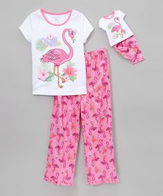 Look at this Komar Kids Flamingo Pajama Set & Doll Outfit - Girls on #zulily today!