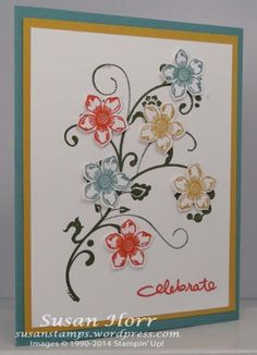 Flowering Flourishes, Petite Petals, Stampin Up, In Colors, susanstamps.wordpress.com