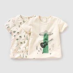 T-shirt (lote de 2), 1 mês-3 anos R baby