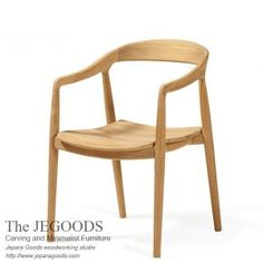the Jepara Goods Woodworking produced mid century chairs. Model kursi cafe teak retro scandinavia chair Indonesia furniture manufacturer at factory price.