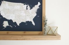 World map push pin travel map framed world map keepsake gift track your travels and dream up that next adventure with our handcrafted navy us push pin gumiabroncs Choice Image