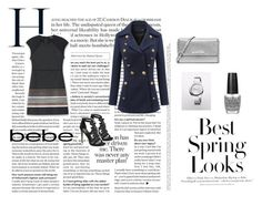 """""""Soirée de Luxe with bebe Holiday: Contest Entry"""" by senidakahvedzic1 ❤ liked on Polyvore featuring moda, Bebe, MICHAEL Michael Kors, Calvin Klein, OPI y H&M"""