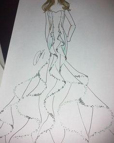 "55 Likes, 6 Comments - Mel (@mel_bourne1998) on Instagram: ""Jellyfish dress remake #fashiondrawing #fashion #fashionillustration #fashiondesign #drawing…"""