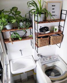 Outdoor Laundry Rooms, Laundry Decor, Laundry Room Design, Home Room Design, House Design, Space Saving Furniture, Home Decor Furniture, Bathroom Interior, Home Organization