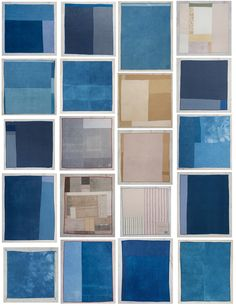 Beautiful patchwork quilt backs made from leftover and scrap meterials dyed with indigo - Folk Fibers