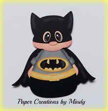 Comic Cuties Batman dress up hero kids premade paper piecing scrapbooking page