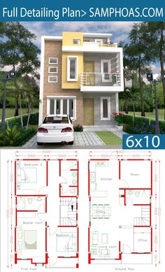 Sketchup Home Design Plan with 4 Rooms – SamPhoas Plansearch Sketchup Home Design Plan mit 4 Räumen – SamPhoas Plansearch 2 Storey House Design, Duplex House Design, Duplex House Plans, House Front Design, Small House Design, Dream House Plans, Modern House Design, House Floor Plans, Dream Houses