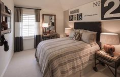 The perfect throw-back decor for a sports-loving teen. Berkshire // Fort Worth, TX // Highland Homes // Plan 208