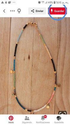 Wood Necklace, Evil Eye Necklace, Diy Necklace, Boho Jewelry, Beaded Jewelry, Jewelry Accessories, Jewelry Design, Beaded Necklaces, Pulseras Kandi