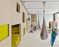 Wnętrza siedziby Allegro Group w Poznaniu - Ultra Architects Education Architecture, School Architecture, Interior Architecture, Interior Design, Kindergarten Interior, Kindergarten Design, Casa Loft, Deco Kids, Kid Spaces