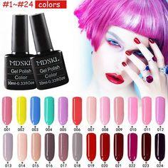 MDSKL 132 Colors beauty UV Gel Nail Polish 10ML Soak-off Nail Glitter UV Gel Lacquer Nail Art