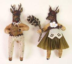 Vintage Inspired Spun Cotton Doe/Deer Girl by VintagebyCrystal