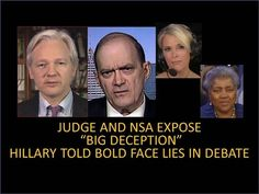 """Hillary And DNC Busted! Caught Lying In Debate! Judge And NSA """"The Big Deception""""! Brazile Guilty! - YouTube"""