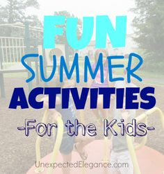 Find some great activities for the kids this summer!  Perfect for two or a large group.  Get your neighborhood kids together or set up a group for the summer!  Water activities and more.