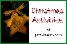 christmas preschool activities: mystery stocking with jingle bells for math center
