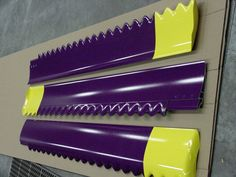 Customized purple and yellow blades for Altra-Air Fans.