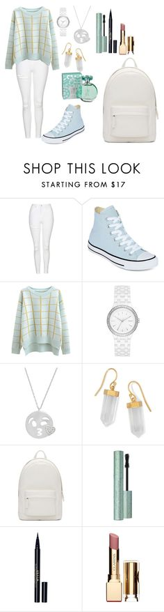 """""""Untitled #397"""" by lexikth ❤ liked on Polyvore featuring Topshop, Converse, Chicnova Fashion, DKNY, Amanda Rose Collection, BillyTheTree, PB 0110, Too Faced Cosmetics, Stila and Clarins"""