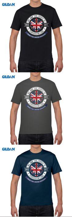 GILDAN People of Tomorrowland Flags logo Badge - UK - Union Jack - great britain - royaume uni Printed England Style T Shirts