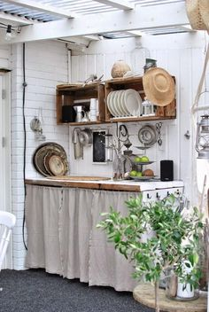 Emily Henderson Mountain Fixer Upper I Design You Decide 5 Styles Whimsical Scandinavian Cottage 05 garden ideas cottages Mountain Fixer Upper: The 5 Styles We Didn't Choose - Emily Henderson Outdoor Kitchen Design, Rustic Kitchen, Country Kitchen, Diy Kitchen, Vintage Kitchen, Kitchen Decor, Shabby Chic Kitchen, Kitchen Layout, Kitchen Ideas