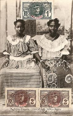 These images are from two series of postcards produced between 1900 and 1910 by the photographer F.W.H Arkhurst in Grand Bassam, Ivory Coast.