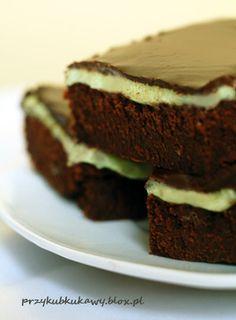 Czekoladowo miętowe brownies