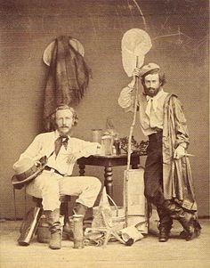 Ernst Haeckel mit Assisteten Nikolaus Miclucho-Mclay, 1866.