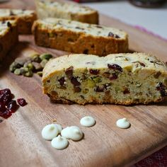 This Cranberry Pistachio Biscotti can also be made with chocolate chips.  Instead of lemon, I use 1 tsp. grated orange rind and 1/2 tsp. of orange extract in mine!