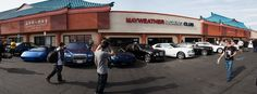 mayweather gym photo | These are 50 Cents cars at Mayweathers gym yesterday/// WANDA  PIC