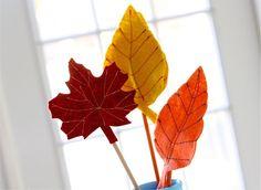 Есенни листа от филц | Art and Blog