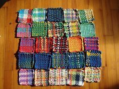 Weaving Tutorials for Beginners & Kids | Loom Techniques, Lessons and Craft Projects Weaving on potholder looms produce woven squares which can be used as coasters or potholders, or joined together to make scarves, dishcloths, blankets etc.