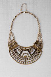 Giza Geometric Crescent Necklace - Francescas