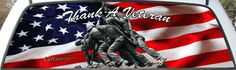 Pickup Graphic Iwo Jima Memorial One Size Fits Most Remember a veteran and say Thank You with a custom rear window graphic for your car or truck rear window.