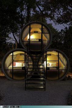 Outdoor sleeping berths