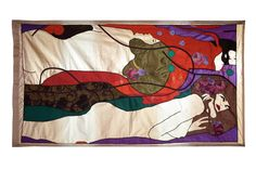 Gustav Klimts Water Serpents. Size 1.9 * 1.1 m. Curtainart. Free work and made to order. More info at info@gordijnkunst.nl
