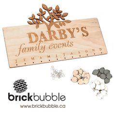 Brickbubble   Celebration calendar - laser engraved and cut. http://brickbubble.ca/store/celebration-calendar/