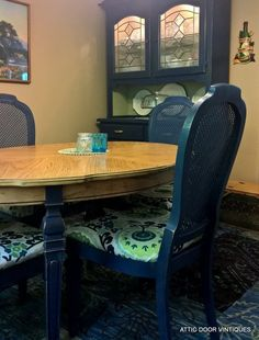 Napoleonic Blue Dining Room by Annette.