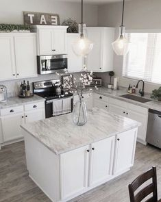 Vote on Our Kitchen Backsplash! And Kitchen/Dining Room Decor Sources - Home Decor İdeas Kitchen Cabinets Decor, Kitchen Redo, Home Decor Kitchen, Kitchen Dining, Kitchen Remodel, Kitchen Backsplash, Dining Room, Kitchen Ideas, Dining Decor