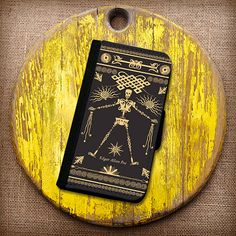 Edgar Allen Poe Inspired Wallet Case. Choose iPhone 4/4s, 5/5s, 5c or Galaxy S3, S4. on Etsy
