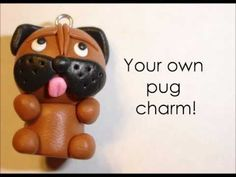 Polymer clay tutorial: Pug puppy