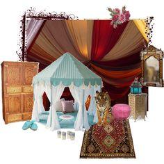 Princess Jasmine's Bedroom, created by oceanicinsomniac on Polyvore