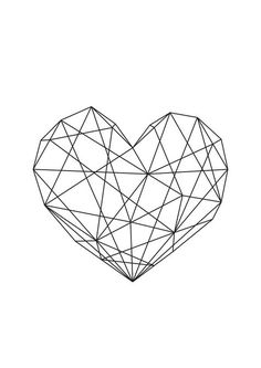 Geometric Heart Art Home Decor Print. Artwork Bedroom Home Decor Family Positivity Life Inspiration Monochrome Living Room Interior Frame Art Styling Interior Design Happy Emotions Live Desenio Posters, Geometric Heart, Geometric Wall, Trendy Tattoos, Cool Walls, String Art, Cute Wallpapers, Iphone Wallpaper, Gallery Wall