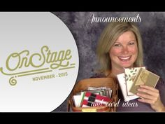 Stampin Up OnStage Event 2015 recap and updates plus Stampin Up Holiday Catalog and more swap card ideas and shares from Tami White.