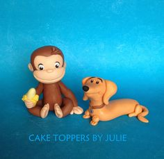 """Cake Toppers stand approx 3"""" tall, gum paste & fondant     Cupcake Toppers, gum paste & fondant"""
