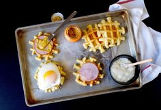 WHAT'S FOR BRUNCH? Croque Madame Waffles or hangover food!!