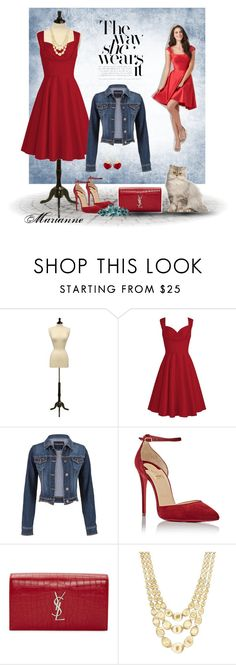 """Fashion 18"" by marianne-spiessens on Polyvore featuring mode, maurices, Christian Louboutin, Yves Saint Laurent, Marco Bicego en KDIA"