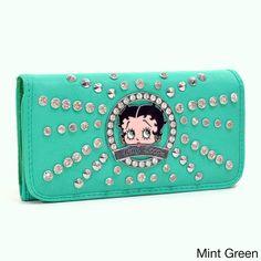 c80546de42e Betty Boop Rhinestone and Studded Starburst Accent Tri-fold Wallet