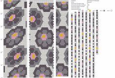 16 around bead crochet rope pattern Crochet Bracelet Pattern, Crochet Beaded Necklace, Beaded Necklace Patterns, Bead Crochet Patterns, Bead Crochet Rope, Peyote Patterns, Beading Patterns, Bead Loom Designs, Tapestry Crochet