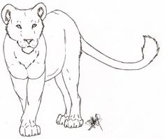 Lioness Outline Tattoo Deviantart More Like Tattoo Design By Oldskulllovebymw