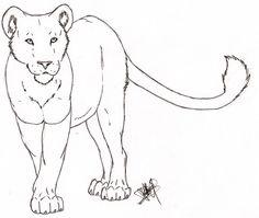 Lioness Outline Tattoo Deviantart More Like Tattoo Design By Oldskulllovebymw